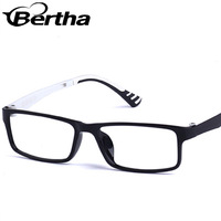New Prescription Ultra Cheap Colorful Optical Eyeglass Frame 9303 Black frame White legs