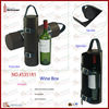 Soft leather wine carrier with top carry handle,Chivas wine bottle packaging box