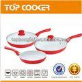 venta caliente 5 piezas de cerámica de aluminio utensilios de cocina conjunto