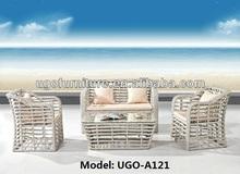 UGO furniture 2014 hot sale modern design rattan sofa UGO-A121