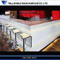 tw 2014 de acrílico blanco muebles de la barra de bar restaurante del contador