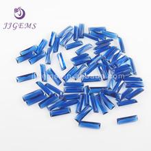 Rectangle baguette blue wholesale glass gems