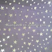 silver star printed crystal organza fabric