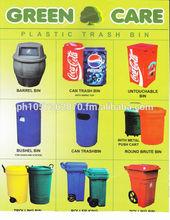 Environment-friendly plastic trash bins