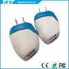 Natural Blue Mix White Color Flat Usb Wall Charger Adapter