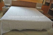 KTBC-11 Designer Handmade Applique/Cutwork Bed / Duvet Covers Pure Cotton Fabric Jaipur Textiles