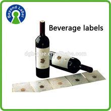 hot stamping quality custom roll adhesive vinyl sticker wine label