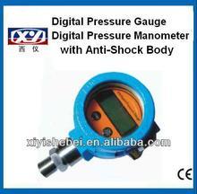 Anti-shock water gas digital pressure sensor with lcd display