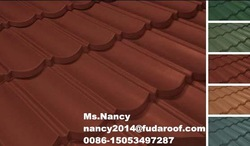 Stone coated steel roof tiles for villa