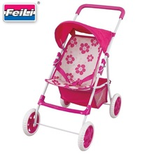 Feili hot sell shantou toys factory lovely baby doll stroller toys doll carriage