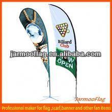 Cheap Full Color Beach Wing Flag