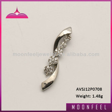 Silver 925 aaa white c.z. charm pendant