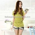 Chinesisch traditionellen stil Ethno-Stil einfachen grünen Pflege t- shirt stillen kleidung mütterlichen kleidungsstück schwanger bekleidung BK117