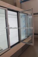 Automatic Freezer/Refrigerator Sliding Glass Door in Aluminium