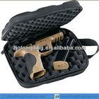 portable semi-hard single pistol case