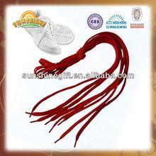2014 new product Customized reflective elastic sport shoelaces/round rope shoelaces