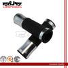 HB-018 22mm 7/8'' China Manufacture Cheap Rubber Silver Street Bike Handle Bar Grip Moto 125cc