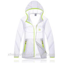 Fashion waterproof Ultrathin women skin UV protection jacket