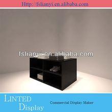 wood folding display shelf