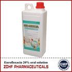 Injectable antibiotics enrofloxacin 10% oral solution with gmp factory