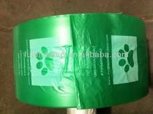 Garbage bag HDPE virgin oxo bio-degradable t-shirt pet dog poop plastic bag