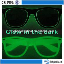 2015 Wholesale Luminous And Fluorescent In Nightclub Promotion Custom Logo Printing Glow In The Dark Sunglasses