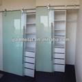 Deslizante moderno vidro fosco porta do armário, Correr do armário porta, Guarda-roupa porta de correr