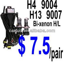 Factory direct 12v 35w 55w h4 h13 9004 9007 hid bi-xenon h/l bulb $ 7.5/pair