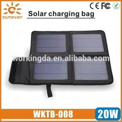 20W Multi Purpose solar laptop charger/foldable folding solar panel/portable solar panel