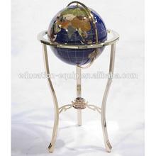 Globe,330mm Floor Standing Gemstone Rotating World Globe,SE71113