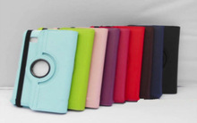 Hot Sale Colorful 360 Degree Rotating PU Leather Stand Wallet Case Flip Cover For Tablets