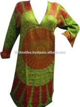 KTLK-14 Open V shape neck Without Collar From Jaipur 2014 mandala Printed Pakistani designer long Kurtis for girls Wholesale lot