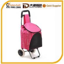 folding shopping trolley bag with wheels