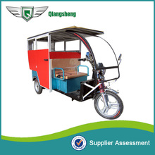 cloth fiber roof battery powered electric tricycle with low price