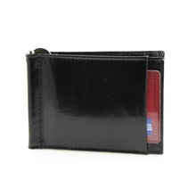 Front Pocket Wallet Money Clip leather with Mesh Pocket