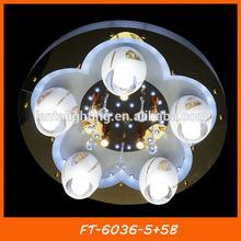 Modern 230v led ceiling lamps China manufacturer FT-6036-5+5B