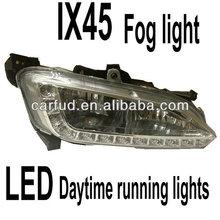 hyundai santafe 2013 ix45 daytime running lights with fog lamps