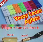 (MOQ: 40pcs) (Gold/Silver/Black Nickel) Yeezy Lace Screw Metal Tips~Yeezy Lace Aglets, Screw Metal Tips Shoelaces,