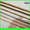 new fashion brass box chains in jewelry of necklace