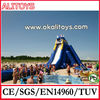 2015 new dubai water slide giant inflatable adult hippo slide for beach