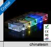 HOT!!! LED Lights Customized Crystal USB Flash Drive , Luxury USB Flash