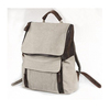 Rugged tough canvas leather backpacks for mens