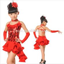 beaux enfants de danse de salon robe noire sequinpatch chers enfants fille costumes de danse latine