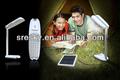 Wiederaufladbare warmen whitel solar-led-laterne mit lithium-batterie