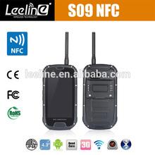 2014 new no 1 s6 S09 NFC PTT Walkie Talkie quad core android rugged smartphone IP68 waterproof dustproof