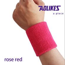 Rose red basketball wrist sweatband brace