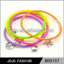 Novelty extreme energy silicone charm bracelet 2015 fashion jewelry