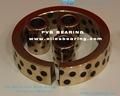 Cojinete de bronce sólido BCB-8010060, rodamiento liso de bronce y grafito, cojinete con guía de bronce Oiles