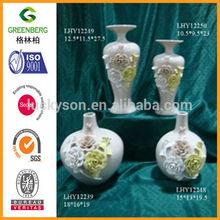 Ivory art ceramic vase for home decoration