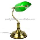 Bank desk lamp brass antique table lamp